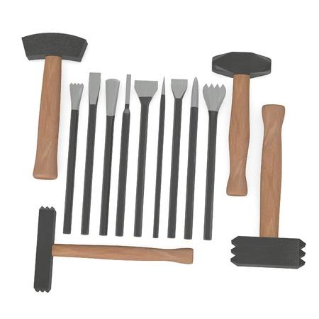stonework: 3d render of tool for stonework Stock Photo
