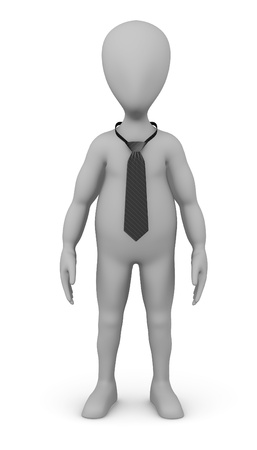 3d render of cartoon character with tie photo
