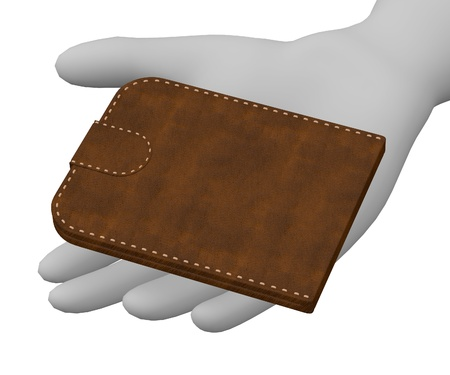 3d render of cartoon character with wallet photo
