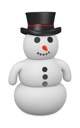3d render of snowman character photo