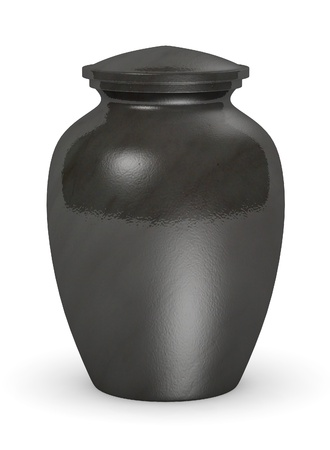 ashes: 3d render of urn for ashes Stock Photo