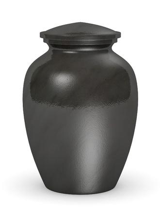 Rendu 3d de l'urne pour les cendres Banque d'images - 13741066