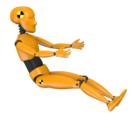 3d render of car test dummy-child Stock Photo - 13742558