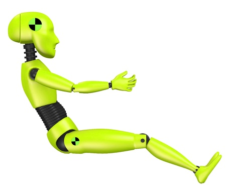 3d render of car test dummy-child Stock Photo - 13742607