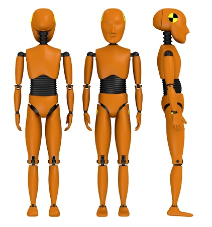 3d  render of car test dummy Stock Photo - 13743491