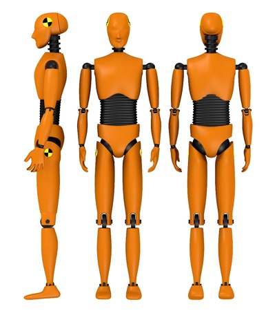 3d  render of car test dummy Stock Photo - 13743678