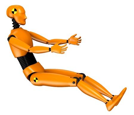 bot: 3d  render of car test dummy