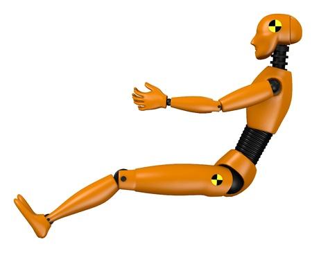 3d  render of car test dummy