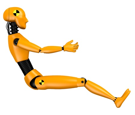 3d  render of car test dummy - woman Stock Photo
