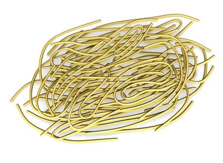 healty eating: 3d render of  pasta food