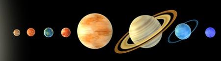 solar system: 3d render of solar system  (planets)