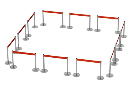 3d render of  stand barrier photo