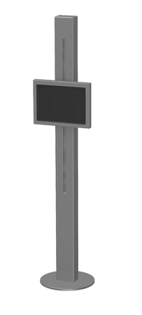 3d render of  terminal with screen photo