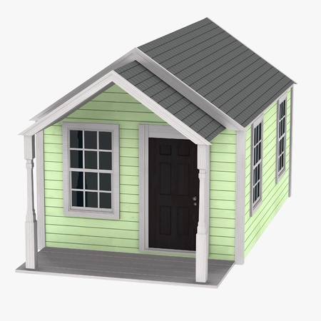 hometown: 3d render of  US house Stock Photo