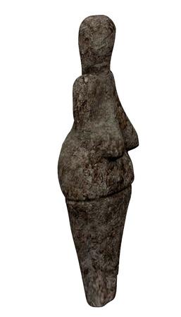 3d render of  venus statue