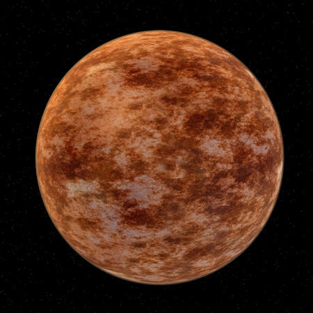 3d render of  venus planet