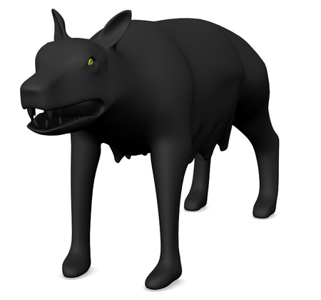 3d render of  wolf animal photo