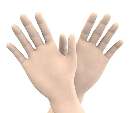 swear: two human hands