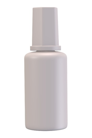 corrections: 3d render of correction fluid