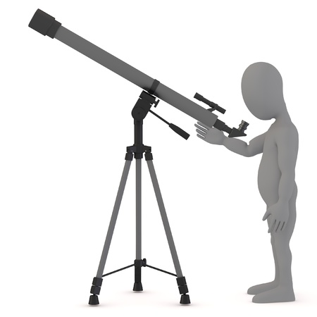 monocular: monocular with cartoon character Stock Photo