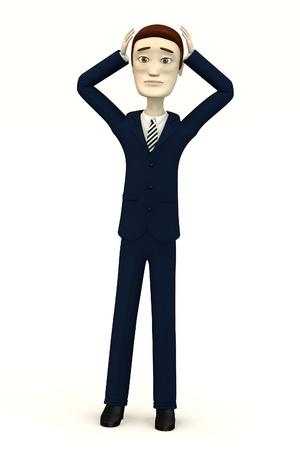 despair: cartoon businessman - despair Stock Photo