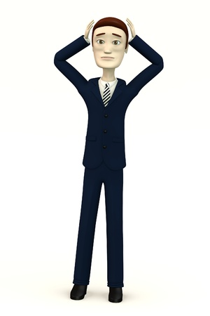 cartoon businessman - despair Stock Photo