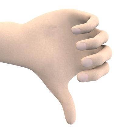 human hand - thumb down Stock Photo - 17911901