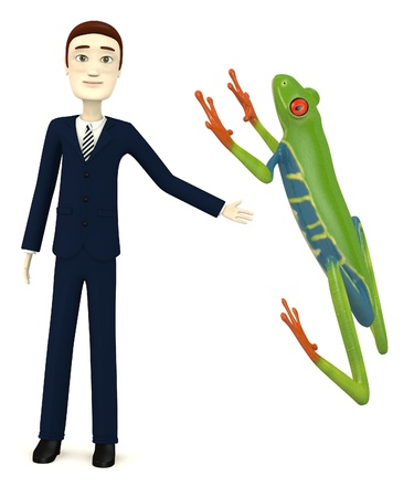 agalychnis: 3d render of cartoon character with agalychnis callirdryas
