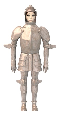 sexy army: 3d render of cartoon male in armor