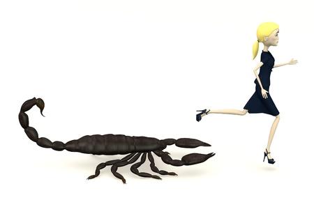 emperor: 3d render of cartoon character with black emperor