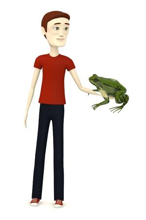 rana: 3d render of cartoon character with rana esculanta Stock Photo