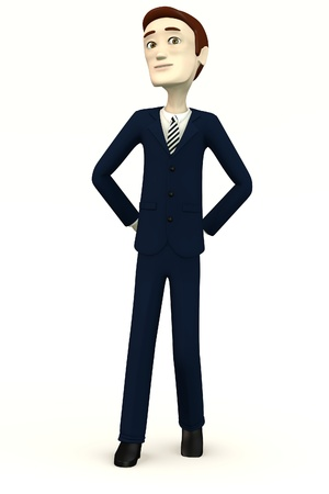 succes: cartoon businessman - bossy Stock Photo