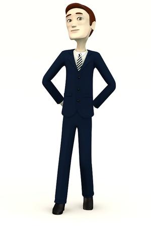 bossy: cartoon businessman - bossy Stock Photo