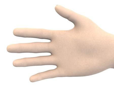 swear: human hand - palm Stock Photo