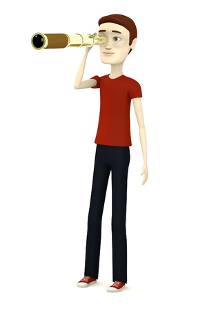 monocular: 3d render of cartoon character with monocular