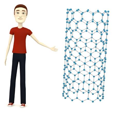 nanotube: 3d render of cartoon character with nanotube