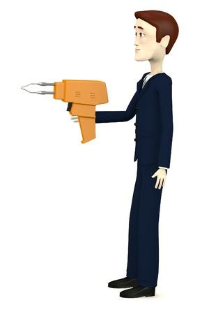 solder: 3d render of cartoon character with solder