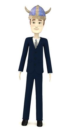 3d render of cartoon character with helmet photo