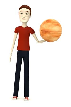 jupiter: 3d render of cartoon character with jupiter