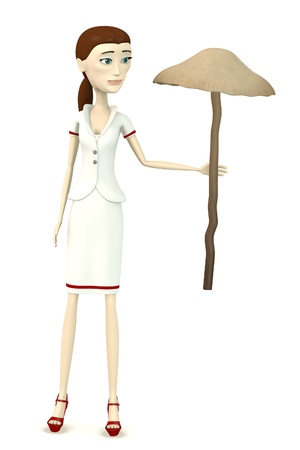 figourine: 3d render of cartoon character with psylocibe bohemica