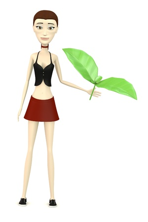 3d render of cartoon character with salat photo