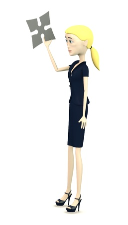3d render of cartoon character with shuriken photo