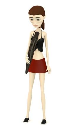 sanguisuga: 3d rendering di personaggio dei cartoni animati con la sanguisuga Archivio Fotografico