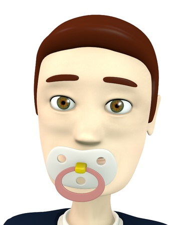 teat: 3d render of cartoon character with baby teat
