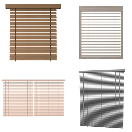 blinds: collection of 3d renders - blinds