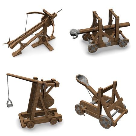 renders: collection of 3d renders - siege weapons