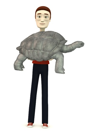 biggest animal: 3d render of cartoon character with geochelone nigra