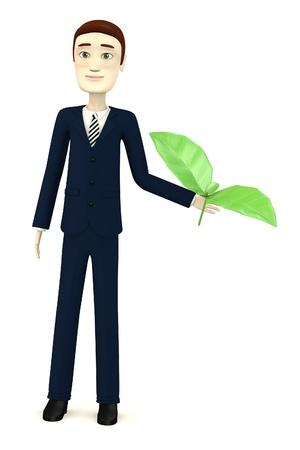 salat: 3d render of cartoon character with salat Stock Photo