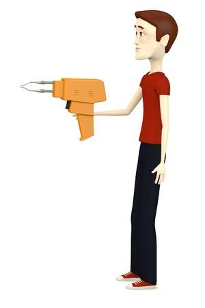 plumbum: 3d render of cartoon character with solder