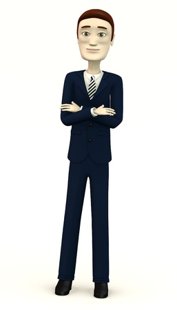 bossy: cartoon businessman - bossy pose